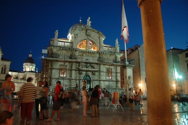 Dubrovnik by night, st. Blaise church