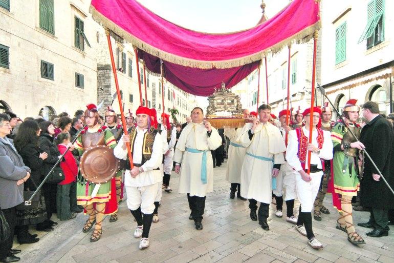 St. Blaise's Procession through Dubrovnik Old City