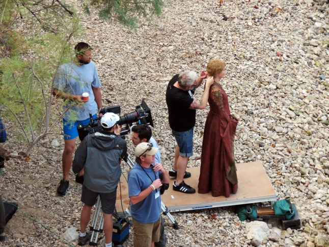 Filming of a scene of Game of Thrones in Dubrovnik