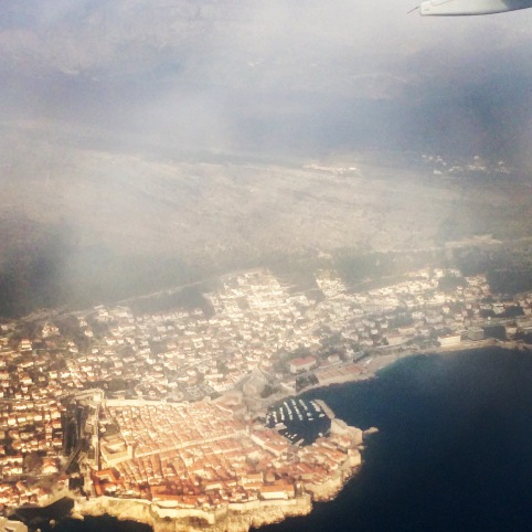 Dubrovnik as seen from plane