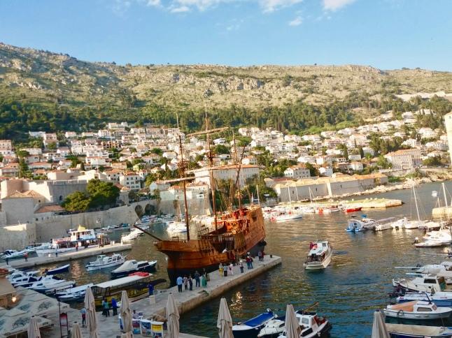 Dubrovnik traditional boat Karaka